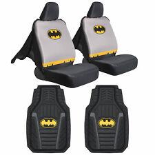 Batman Car Seat Covers with Rubber Floor Mats - Full Gift Set Original DC Comics