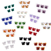 10PC 14mm Charm Faceted Glass Crystal Butterfly Loose Spacer Beads Jewelry Gifts