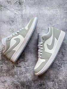 Nike Air Jordan 1 Low Size W UK 9.5/US 12 White/Wolf Grey - Brand New 🔥✅