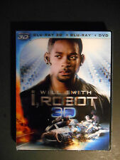 I, Robot (Blu-ray/DVD, 2012, 3-Disc Set, 2D/3D) W/Lenticular Slipcover