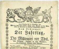 WIEN 1801 Österreich Theaterplakat Emanuel Schikaneder