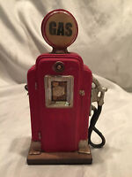 Red Plaster Mold Gas Pump For Man Cave Garage Home Decor Desk Top Paper Weight
