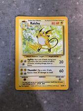 Pokemon TCG Cards Raichu 14/102 Base Set Holo Rare PLAYED *miscut / misaligned*
