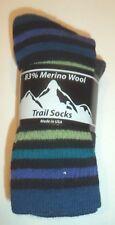 Hunter Mountain 83% Merino Wool Blend Socks,2 pair USA, Size 9-11
