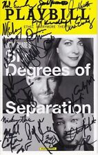 Six Degrees of Seperation Signed Cast Playbill - Allison Janney Corey Hawkins +