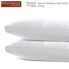 100% Soft, Silk Mulberry Pillow 400 TC Filled Luxury Hotel Quality Bed Pillows