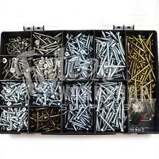 GENUINE ROBERTSON® SQUARE DRIVE SCREWS 800 PIECE KIT ZINC CSK HEAD SCREW + BITS