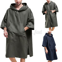 Surf Beach Bath Poncho Wetsuit Changing Robe With Hood Bathing Towel Hoodies UK