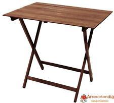 Tavolo tavolino pieghevole richiudibile in legno noce marrone 77x60 cm in faggio