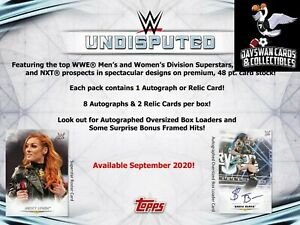 "FIRST LETTER ""T"" 2020 Topps WWE Undisputed Wrestling 8 Box FULL CASE Break"