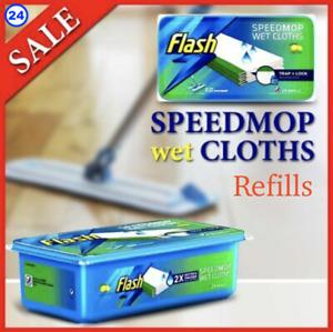 Flash Speedmop WET CLOTHS Refills Lemon (24 per Pack) Speed Mop Refill SameDay P