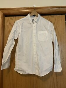 Old Navy Boys White Long Sleeve Button-Down Shirt Extra Large 14/16