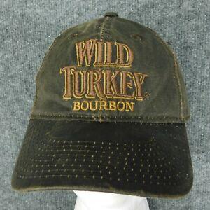 WILD TURKEY Bourbon Hat Cap Waxed Cotton Distressed Wash Adjustable Strapback