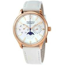 Movado 3650073 Heritage 36mm Women's White Leather Watch