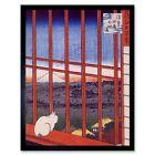 Utagawa Hiroshige Japanese Otori Shrine Old Painting 12X16 Inch Framed Art Print