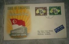 #2 State of Singapore National Day 1961 2v stamps FDC First Day Cover