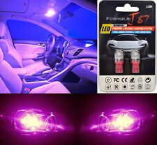 LED 5050 Light Pink 30000K 168 Two Bulbs License Plate Replace Upgrade SMD JDM