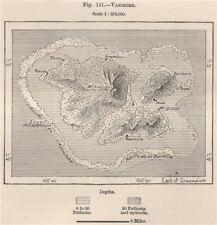 Vanikoro/Vanikolo. Solomon Islands. Melanesia 1885 old antique map plan chart