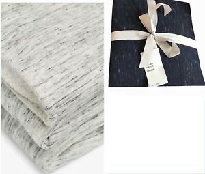 M&S Home Cosy Jersey Fleece Lined Bed / Sofa Throw 150 Cm X 200 Cm