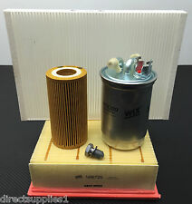 AUDI A4 2.0 TDI DIESEL FULL SERVICE KIT OIL OIL AIR FUEL POLLEN SUMP PLUG