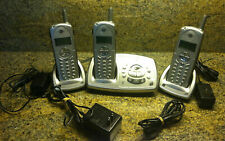 GE 5.8 GHz - 3 Cordless Phones Single Line plus Base with ANSWERING SYSTEM