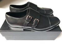 Saint Laurent 43934 Dylan 20 Monk Strap Shoes in black Leather EU 40 NEU OVP