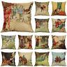 """18""""Retro Fairy Tale Cotton Linen Pillow Case Sofa Cushion Cover Throw Home Decor"""
