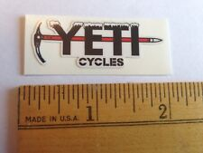 """1 7/8"""" Small YETI CYCLES Frozen Pick Axe MTB BICYCLES BIKE FRAME STICKER DECAL"""