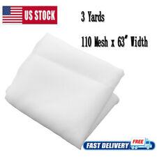 3 Yards 110 Mesh X 63 Width White Silk Screen Silkscreen Printing Fabric Usa