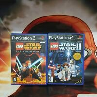 LEGO STAR WARS 1 AND 2  THE VIDEO GAME + THE ORIGINAL TRILOGY  PS2 PLAYSTATION