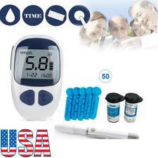 Medical Blood Glucose Starter Glucometer Sugar Meter Monitor Diabetes+TestStrips