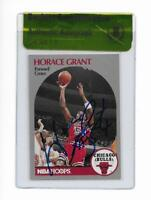 CHICAGO BULLS HORACE GRANT signed autographed 1990-91 HOOPS CARD BECKETT (BAS)
