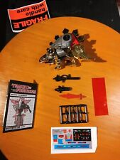 Transformers G1 Dinobot Snarl 100% Complete Lot