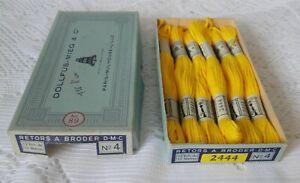 DMC DOLLFUS MIEG 6 échevettes coton retors à broder art.89 N° 4 réf 2444 boite