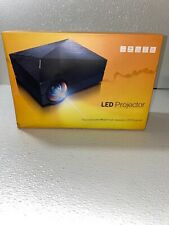 LED Home Theatre Projector + Giant Wall-Sized White Screen for Vivid Picture
