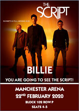 The Script Tour Tickets Card Concert Present Christmas Birthday A5 Any Wording