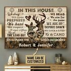 Personalized Deer Camo In This House Poster & Canvas Wall Art Decor