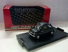CAR BRUMM 1:43 DIE CAST FIAT NEW 500D CLOSE 1960 DARK GREEN LIMITED R405-10