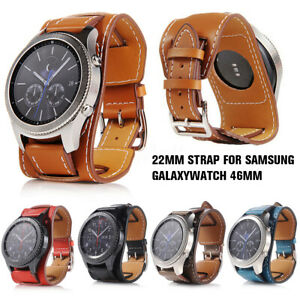 Genuine Leather Band Strap For Samsung Galaxy Watch 46mm / Gear S3 Frontier