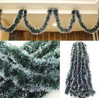 2M Xmas Tree Ornament Holiday Party Christmas Dark Green Ribbon Festival Decor