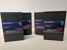Lot of 4 Sony BCT-5MA BETACAM SP Metal Tape