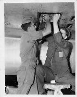 Vtg Original Official USAAF 8x10 Military Airmen Working on Plane 1941-47