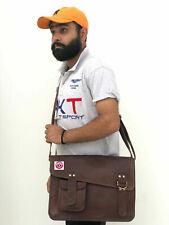 """Messenger Shoulder Laptop Satchel School Case Bag 15"""" Men's Leather Vintage"""