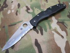 SPYDERCO VG-10 COMBO SERRATED POCKET CLIP FOLDING KNIFE ENDURA 4 (USED) SEKI