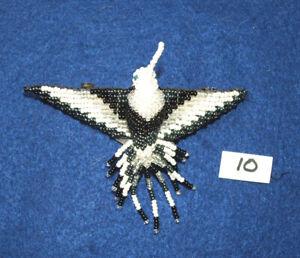 "Hummingbird Barrette 4"" Beaded French Clip closure Fair trade bead work #10"