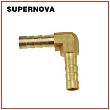 Brass 6mm Elbow 90 Degree Hose Barb Pipe Fitting Coupler Connector Air Water Gas