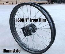 "Thumpstar Atomik DHZ Pitpro Bike Front Rim 15 mm Axle 1.6 17"" 125/140/150/160cc"