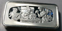 1977 Christmas Franklin Mint Silver Bar 2.29 Ounce of Sterling Silver