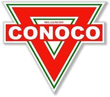 "(CONO-2) 8"" CONOCO TRIANGLE GAS PUMP OIL TANK DECAL FOR SIGN LUBESTER PROJECT"