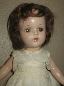 "Antique Vintage Composition Doll- 13""- Strung- Unmarked"